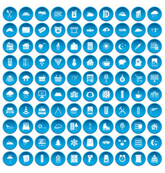 100 windows icons set blue vector