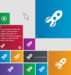 Rocket icon sign buttons modern interface website vector