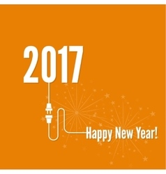 Connecting to the new year 2017 vector