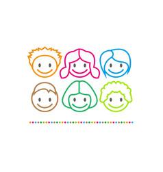 Logo children center funny vector