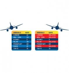 arrivals symbol vector image