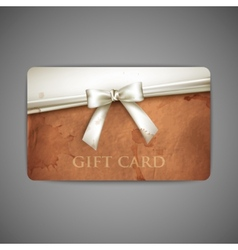Gift card with grunge cardboard texture and white vector