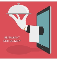 Restaurant food delivery concept vector