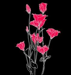vector flower background vector image