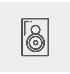 Two way audio speaker thin line icon vector