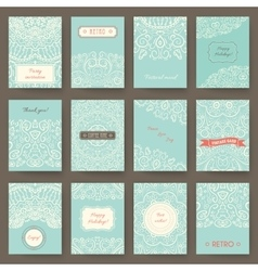 Set of perfect holiday templates with doodles vector image