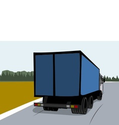 Cargo truck on the road vector