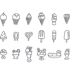 Collection of tasty ice cream vector