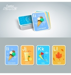 Letter word and picture vector
