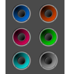 Coloured speakers vector