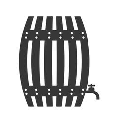 barrel icon Beer design graphic vector image