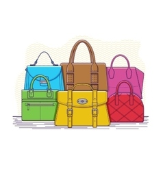 Set of bags vector image