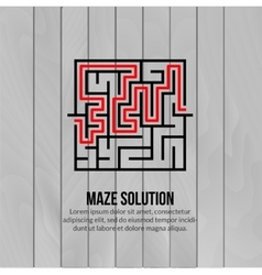 Abstract maze logo Logo icon concept vector image