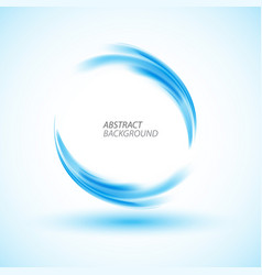 Abstract swirl energy blue circle vector