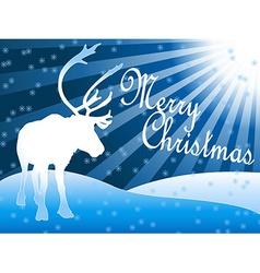 Caribou reindeer Christmas theme vector image