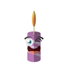 Cartoon candle decoration party wink vector