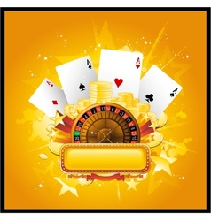 casino sign vector image vector image