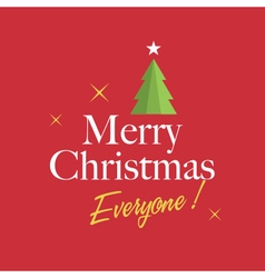 christmas card with christmas tree vector image vector image