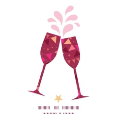 Christmas decorations flags toasting wine glasses vector