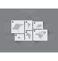 Continents vector image vector image