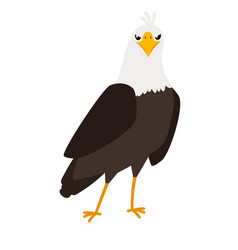 eagle cartoon bird icon vector image