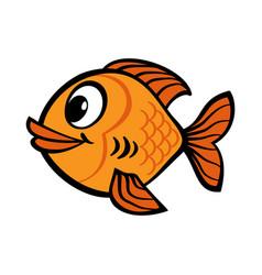 Fish cartoon icon vector