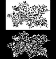 Floral abstract decorative seasonal pattern flower vector image