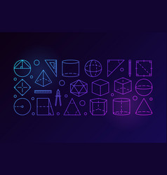 geometry outline colorful vector image vector image