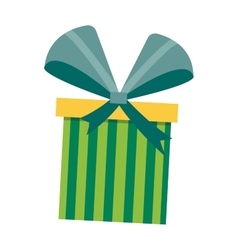 Gft box with ribbon vector image vector image
