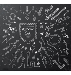 Hand drawn arrow icons set vector image vector image