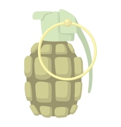 Hand grenade icon cartoon style vector