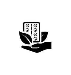 herbal medicine icon flat design vector image vector image