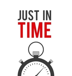 just in time label chronometer vector image