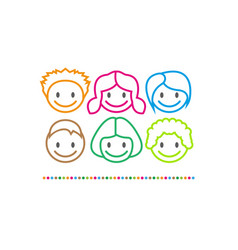 Logo children center funny vector