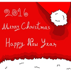 Merry christmas and happy new year 2016 - santa vector