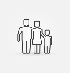 Outline family icon vector