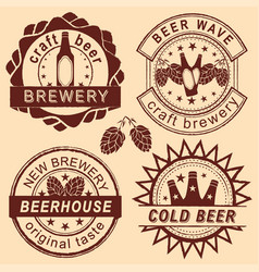 rero beer shop logo emblems and badges set vector image