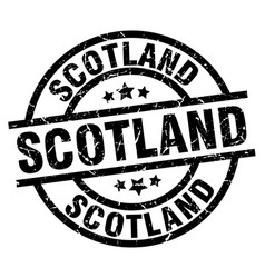 Scotland black round grunge stamp vector