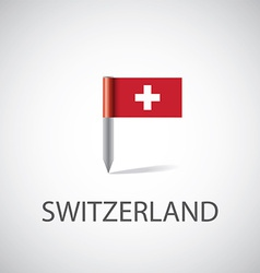 switzerland flag pin vector image