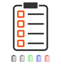 Test form flat icon vector
