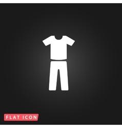 Uniform - pants and t-shirt vector