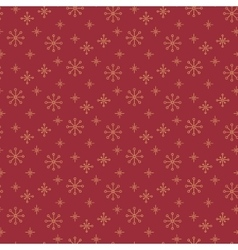 Vintage snowflake simple seamless pattern vector image vector image