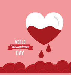 World hemophilia day invitation card healthcare vector