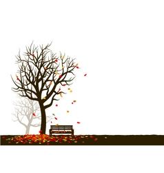 Autumn tree on white background vector image