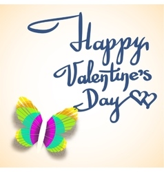 Valentines day greeting card with calligraphic vector
