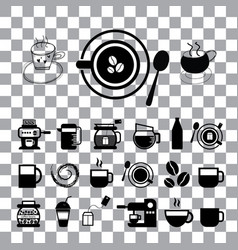 cup and coffee icon set vector image
