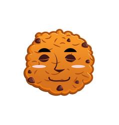 Cookies sleeps emoji biscuit emotion sleep food vector