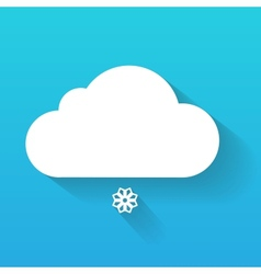 Day cloud and snow flake isolated on blue vector