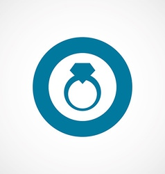 Jewelery ring bold blue border circle icon vector