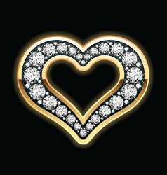 Heart in diamonds vector